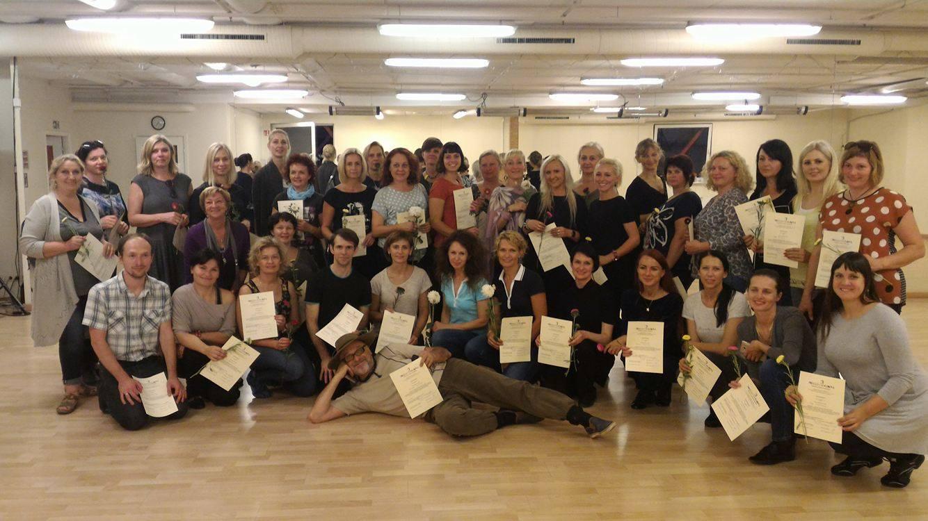 """Dalyvavo šokių festivalio """"Draugystės tiltas 2017"""" repertuaro mokymuos"""