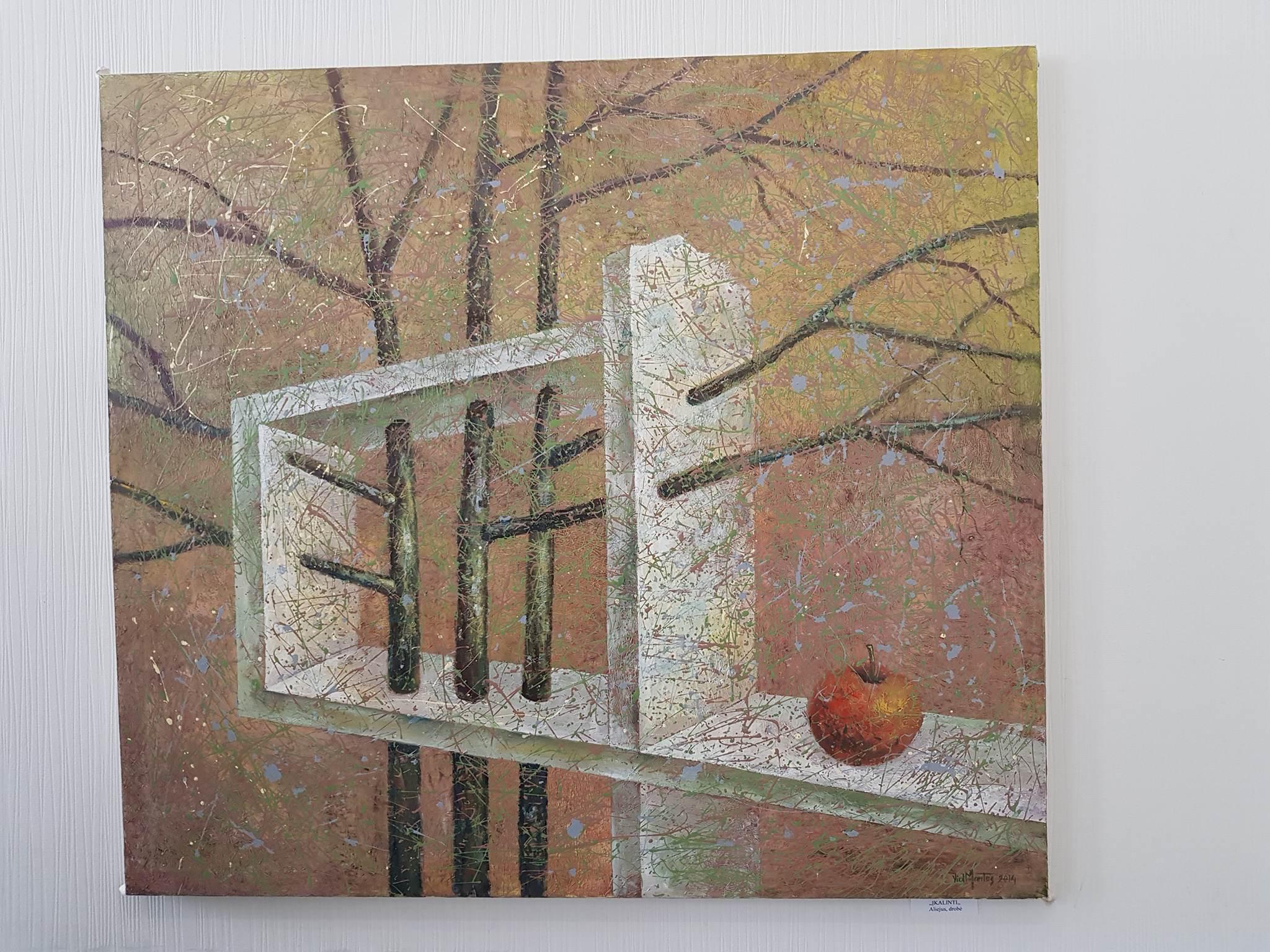 """Mokytojo Vidmano Jankausko darbų paroda Merkinės galerijoje """"Šalcinis"""""""