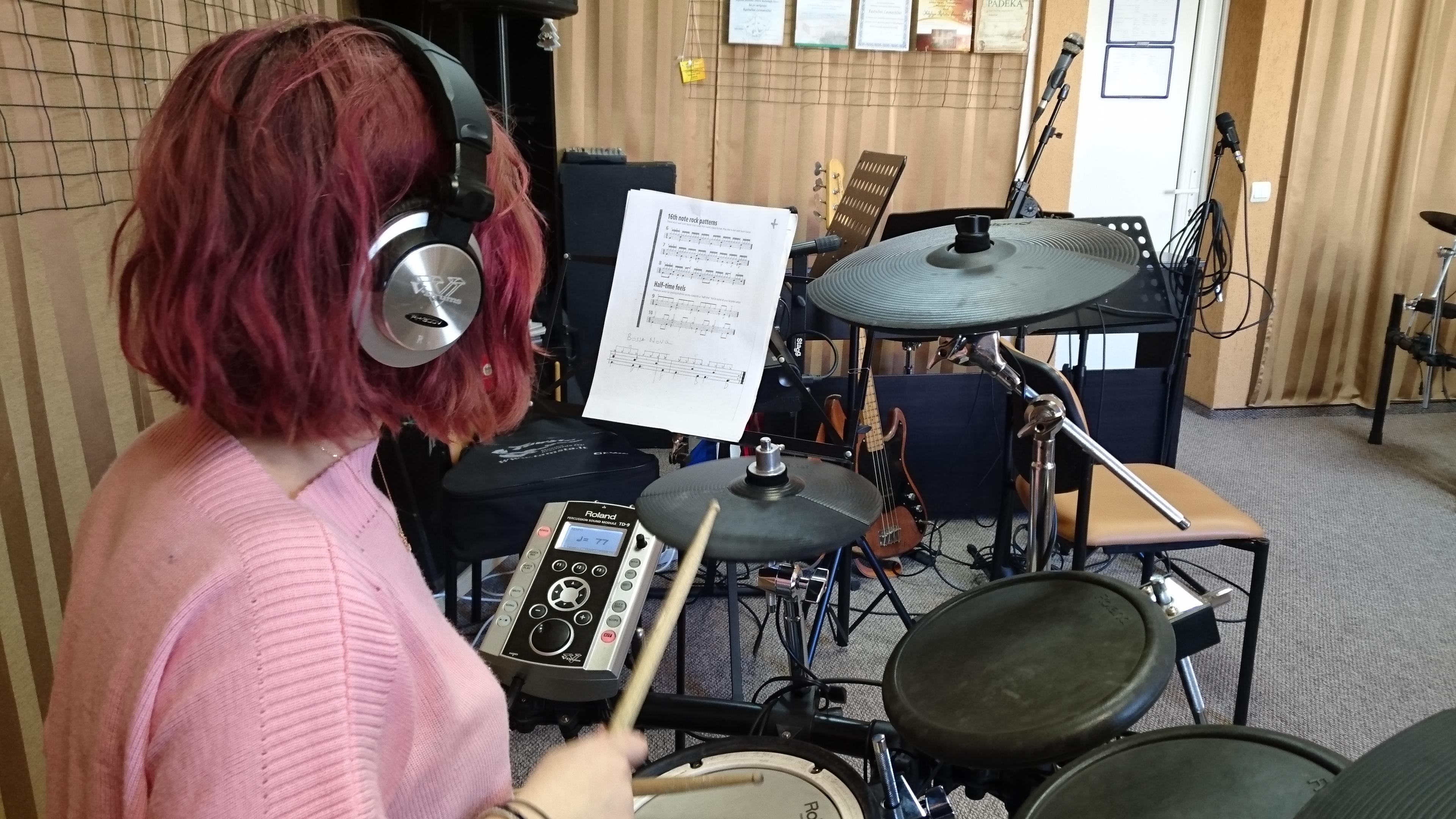 Mušamųjų instrumentų klasės atvira pamoka