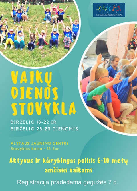Alytaus jaunimo centro vaikų vasaros dienos stovykla