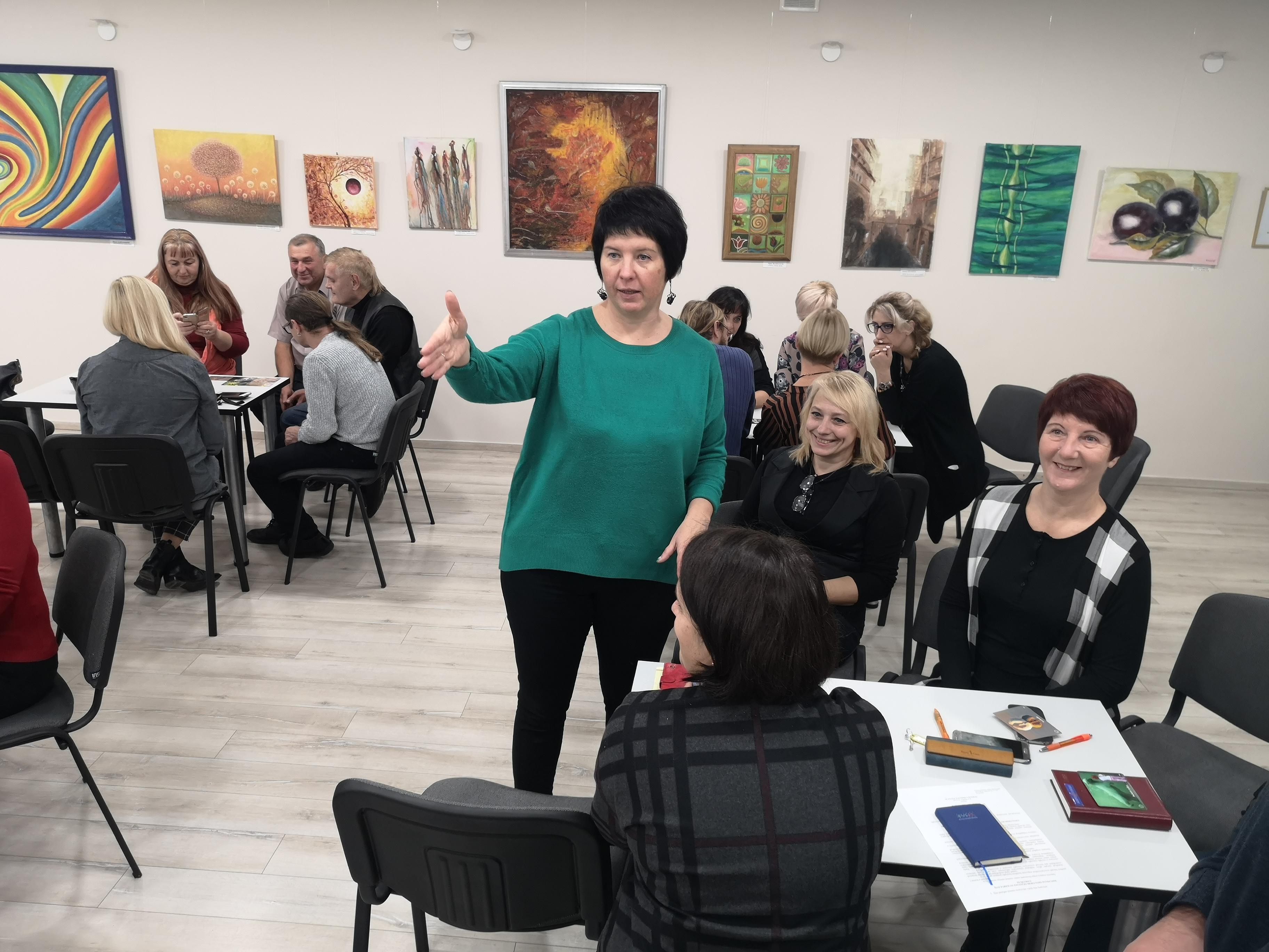 """Alytaus jaunimo centro mokytojai dalyvavo seminare """"Mokytojas ir komanda"""""""