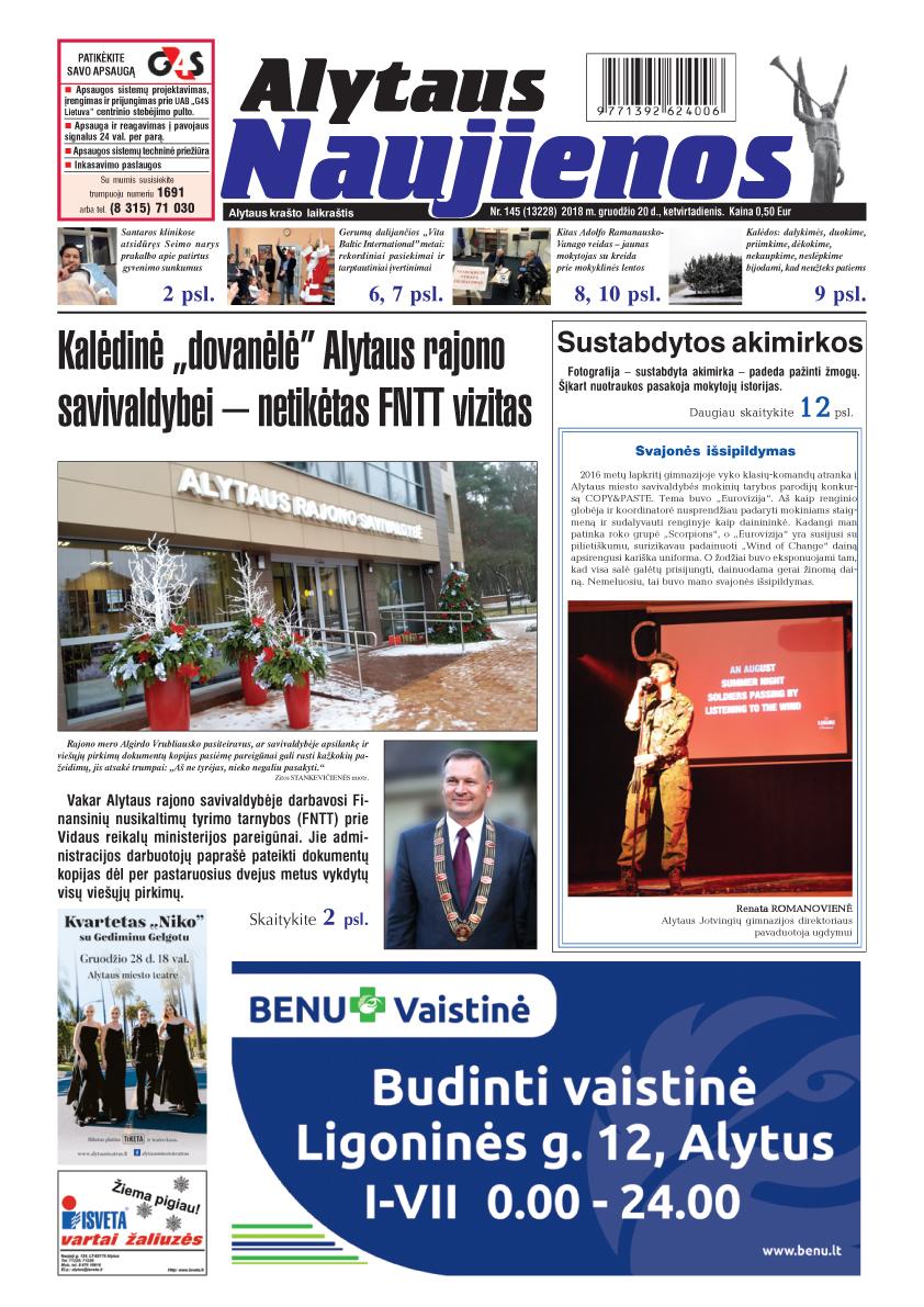 Jaunųjų žurnalistų kursai: publikacijos Alytaus naujienose
