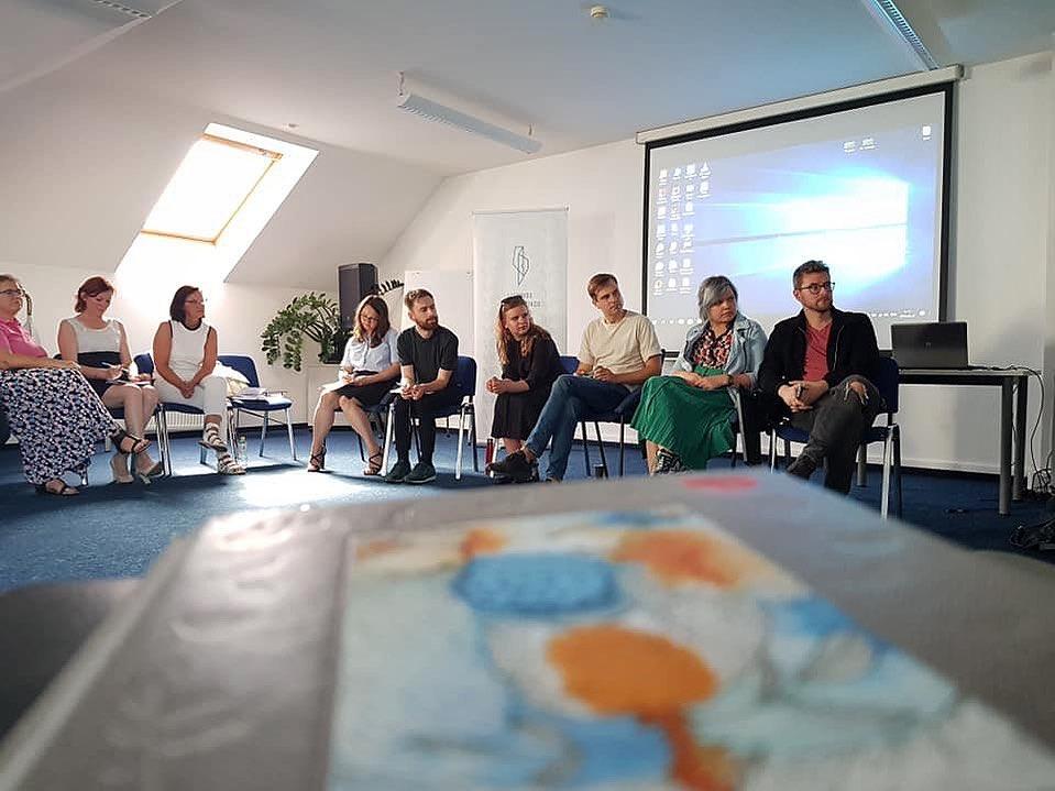 Alytaus jaunimo centro jaunųjų žurnalistų kursų mokytoja dalyvavo žurnalistikos laboratorijoje