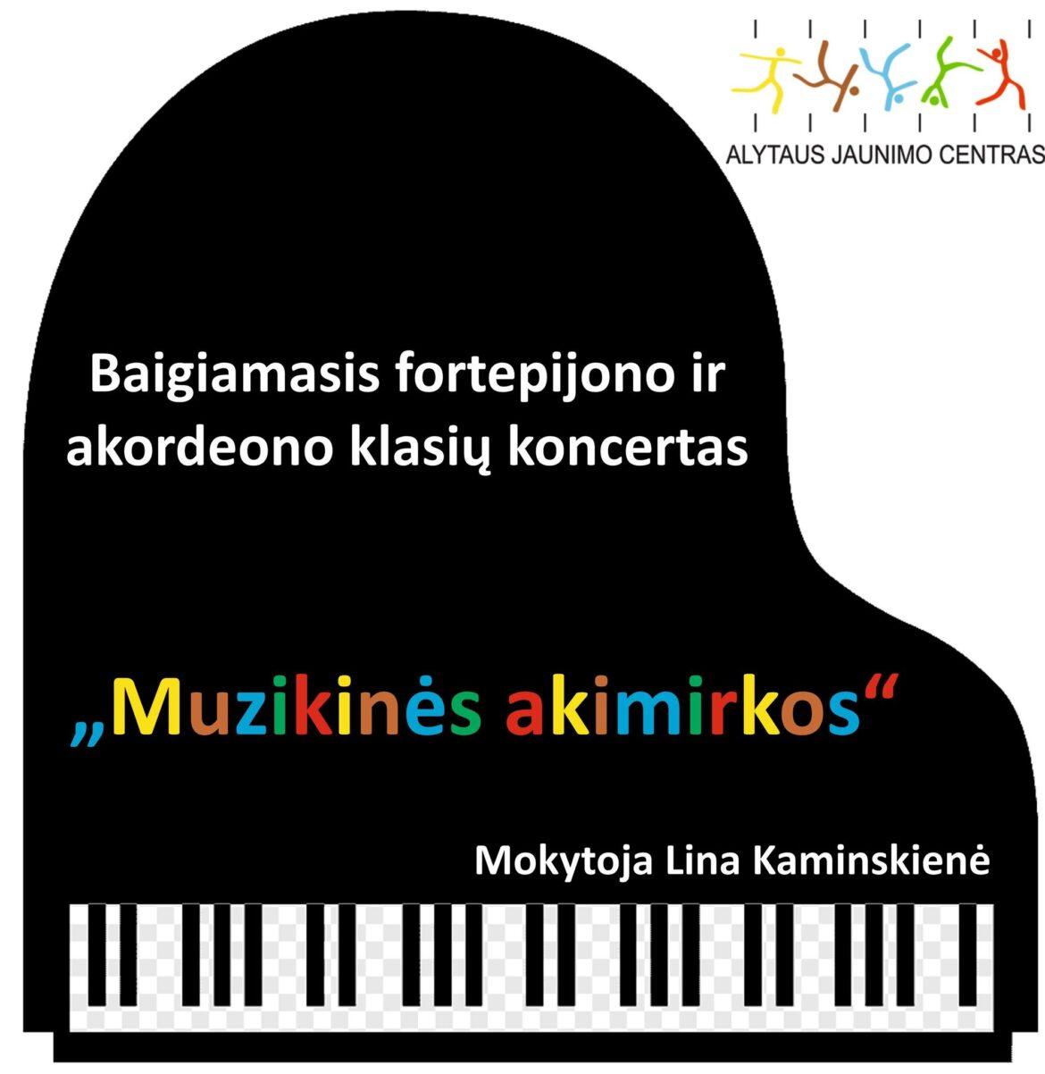 Baigiamasis fortepijono ir akordeono klasių koncertas