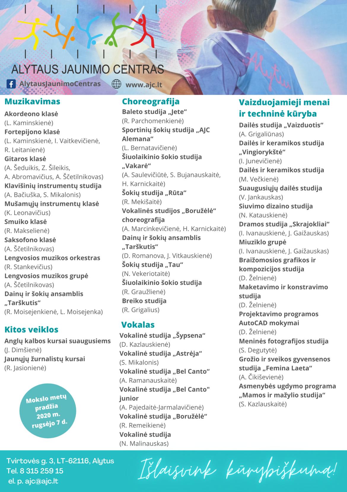 Alytaus jaunimo centras pradėjo naujus mokslo metus!