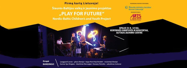 """Alytaus jaunimo centre vyko nuotolinis tarptautinis Šiaurės-Baltijos vaikų ir jaunimo projektas """"Play for future"""""""
